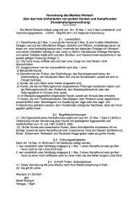 Hundehaltungsverordnung Stand 1.3.07
