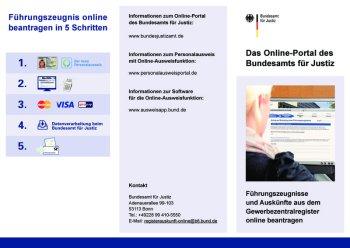 Flyer zum Onlineantrag GZR und FZ