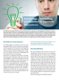 Gründertipps - Hilfestellung und Gedanken für angehende Unternehmer
