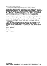 Veröffentlichung § 3 Abs. 1 BBauPl Linzenleiten