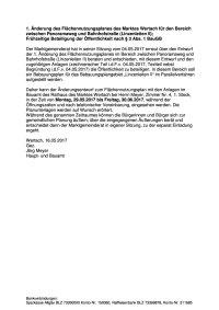 Veröffentlichung § 3 Abs. 1 Änderung FlNPl Linzenleiten - Linzenleiten