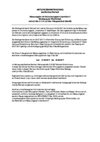 BP Bekanntmachung Auslegung Entwurf § 4 Abs.2 u §3 Abs. 2