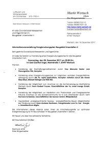 Einladung Infoveranstaltung Energie 28-12-2017