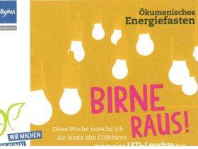Energiefasten - Birne raus