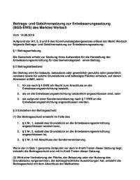 Beitrags- und Gebührensatzung zur Entwässerungssatzung