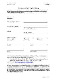Anlage 2 Interessen-bekundungserklärung