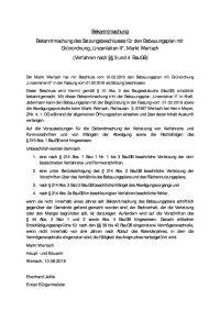 Bekanntmachung Satzungsbeschluss130818