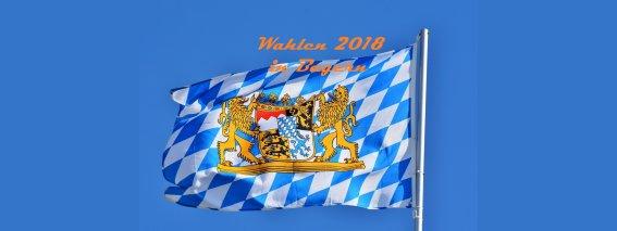 Byernflagge mit Text