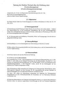 Zweitwohnungssteuersatzung vom 13.09.2018