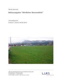 03 190404 BP Nördl Wannenblick Entwurf Umweltbericht