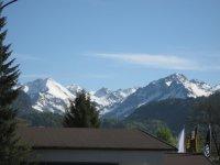 Blick direkt vom Sofa in die Berge