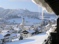 Wertach im Winter vom Balkon