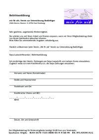 Beitrittserklärung 2019