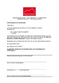 Informationen für Fahrschüler