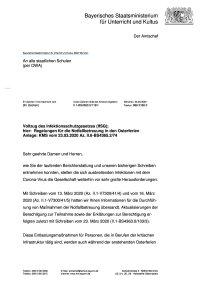 Osterferien Notfallbetreuung vom 26.03.