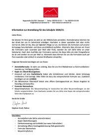 Infobrief AnmeldungMittelschuleOberstdorf