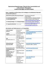 Aushang-Depression Mittelschule Oberstdorf
