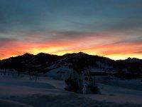 Sonnenaufgang vor der Haustüre