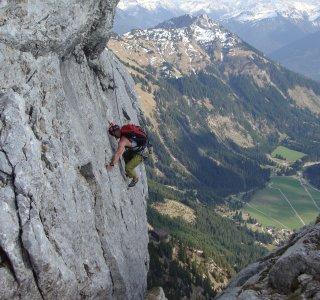 Kletterer an der Roten Flüh