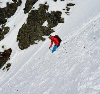 Skitouren St Antönien Abfahrt Rothorn