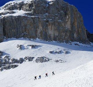 Skitouren St Antönien Sulzfluh Gipfelaufbau 4 personen