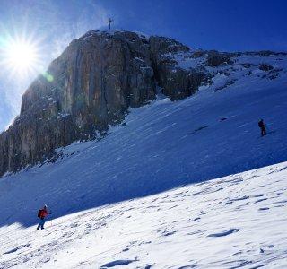 Skitouren St Antönien Sulzfluh Gipfelaufbau