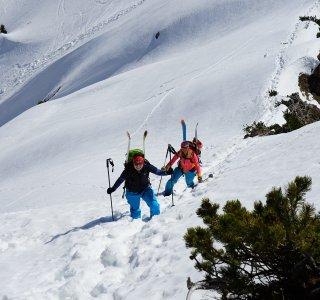 Skitour Allgäu Aufstieg Bschiesser