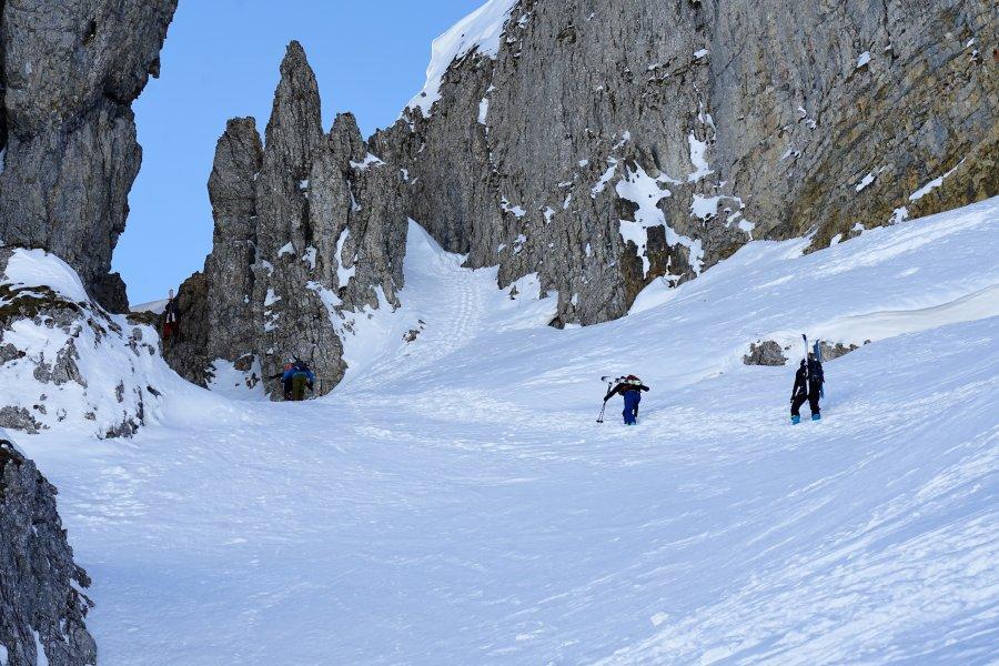 Skitour Allgäu Hoher Ifen Durchstieg