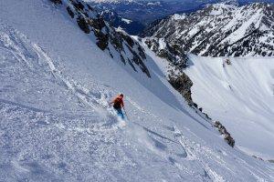 Skitour Allgäu Gaisshorn Gipfelhang Abfahrt
