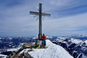 Skitour Allgäu Gaisshorn Gipfelkreuz