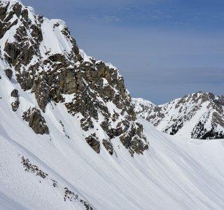 Skitour Allgäu Gaisshorn Felspanorama