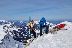 Skitouren Allgäu Abseilen am Ifen