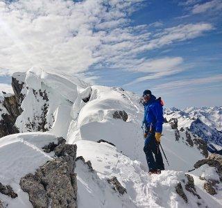 Skitouren Allgäu  Rauhorn  Gipfelgrat 2