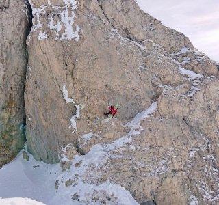 Skitouren Allgäu Felsabbruch Ifen