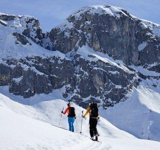 Aufsteig zum Rotspitz, 2.516 m, St. Antönien, Schweiz