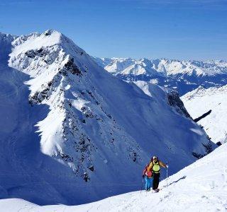 Skitour auf Rotspitz, 2.516 m, St. Antönien, Schweiz