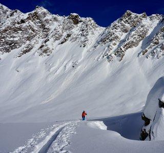 Skitour auf Capanna Cristallina, 2.572 m, Val Bedretto, Schweiz