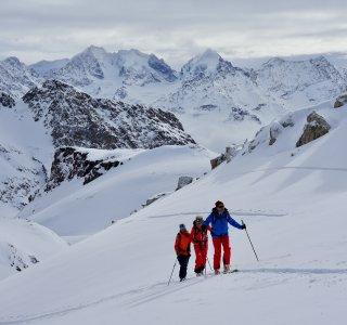 Skitour auf Piz Suvretta, 3.143 m, Julierpass, Schweiz