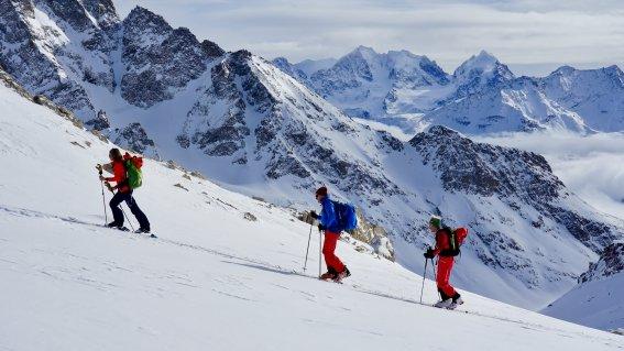 Aufsteig zum Piz Suvretta, 3.143 m, Julierpass, Schweiz