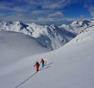 Aufsteig zum Piz da las Coluonnas, 2.802 m, Julierpass, Schweiz