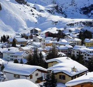 Winter im Bivio, Graubünden, Schweiz
