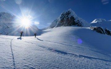 Skitour auf Storekågtinden, Insel Kågen, Kåfjord, Lyngen Alps