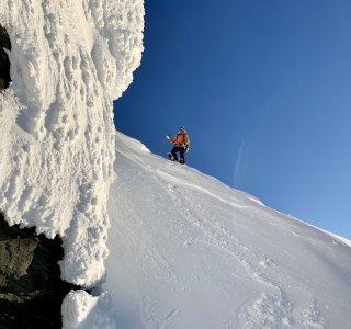 Skitour auf Staluvarri, Kåfjord, Lyngen Alps