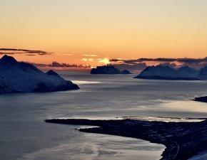 Mitternachtsskitour, Nordmannviktinden, Kåfjord, Lyngen Alps