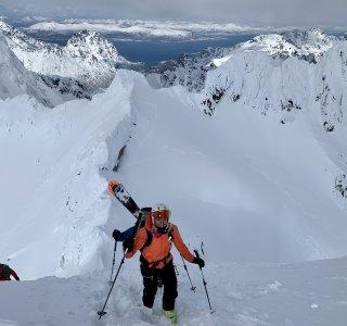 Skitouren Lofoten 2019 Maia Geitgallien Gipfel