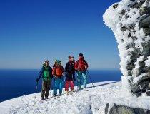 Gruppe am Gipfel des Geitgallien, Lofoten