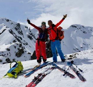 Skitouren im Banderischka Tal, Pirin Gebirge, Bulgarien