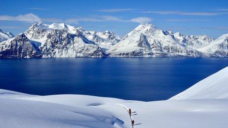 Skitour auf den Sorbmegaisa, Lyngenfjord