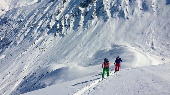 Skitouren Lechtaler Alpen, Aufstieg zur Karlsspitze