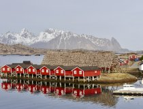 Lofoten, Häuser, Skitour Norwegen